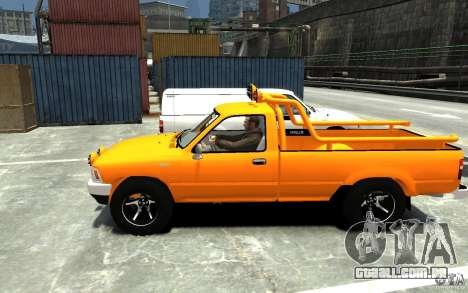Toyota Hilux 1989-1993 Single cab v1 para GTA 4 esquerda vista