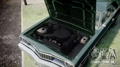 Dodge Dart 1975 [Final] para GTA 4 vista interior