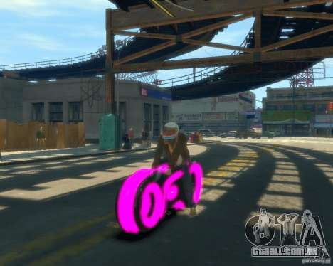 Motocicleta do trono (néon rosa) para GTA 4