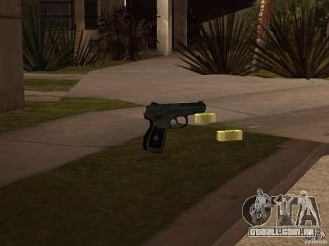 Pak versão doméstica de armas 3 para GTA San Andreas por diante tela