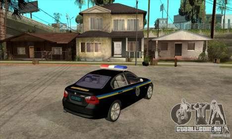 BMW 3 série DPS para GTA San Andreas vista direita