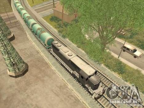 N. º 517 94592 do tanque para GTA San Andreas esquerda vista
