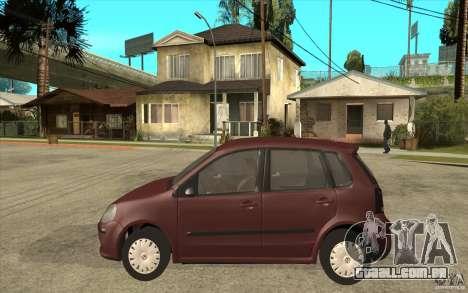 Volkswagen Polo 2006 para GTA San Andreas esquerda vista