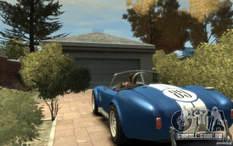 Shelby Cobra 427 SC 1965 para GTA 4 traseira esquerda vista