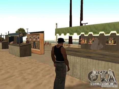 Mercado na praia para GTA San Andreas sétima tela