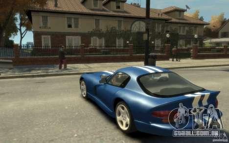Dodge Viper GTS para GTA 4 traseira esquerda vista