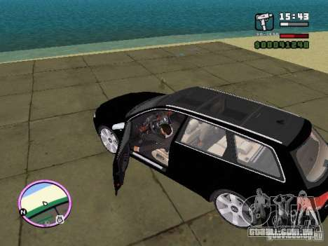 Audi A4 avant 3.2 QUATTRO para GTA Vice City deixou vista