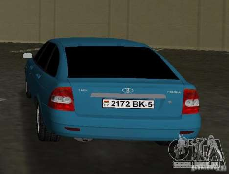 Lada Priora Hatchback para GTA Vice City vista traseira esquerda