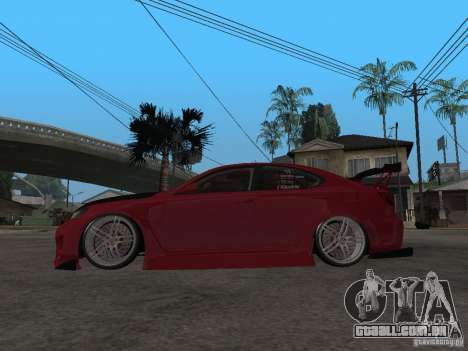 Lexus Drift Car para GTA San Andreas esquerda vista