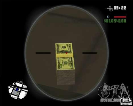 Dinheiro de HD para GTA San Andreas segunda tela