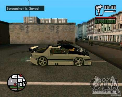 MAZDA FC3S DRIFT TUNE para GTA San Andreas traseira esquerda vista