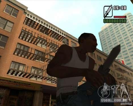 Gladius Knife para GTA San Andreas segunda tela
