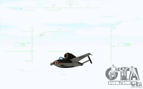 Henkel 162A Salamander para GTA San Andreas traseira esquerda vista