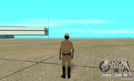 New uniform cops on bike para GTA San Andreas terceira tela
