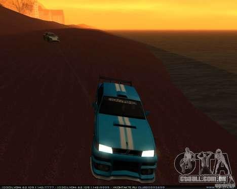 Novos vinis no Sultan para GTA San Andreas vista traseira