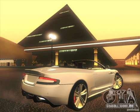 Aston Martin DBS Volante 2009 para GTA San Andreas interior