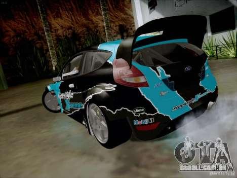 Ford Fiesta RS para GTA San Andreas traseira esquerda vista