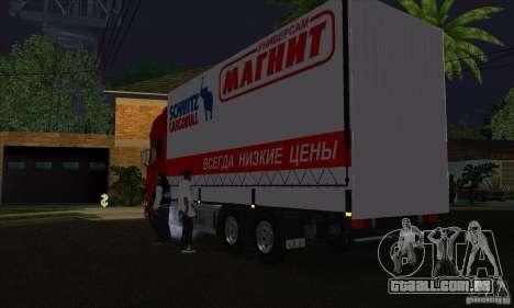 Scania R620 ímã para GTA San Andreas traseira esquerda vista