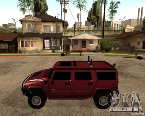 Hummer H2 SE para GTA San Andreas esquerda vista