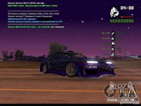 Céu estrelado v 2.0 (para SA: MP) para GTA San Andreas oitavo tela