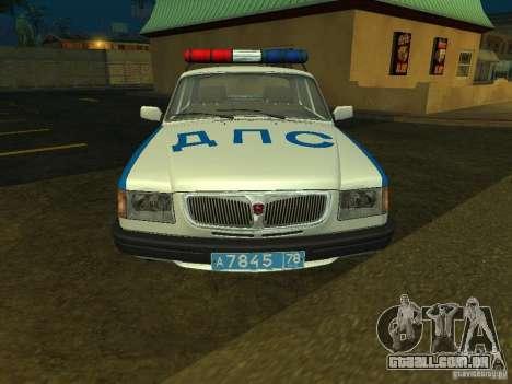 GAZ 3110 polícia para GTA San Andreas esquerda vista