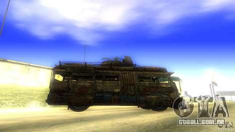 Frontline - MilBus para GTA San Andreas esquerda vista