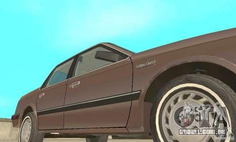 Oldsmobile Cutlass Ciera 1993 para GTA San Andreas vista inferior