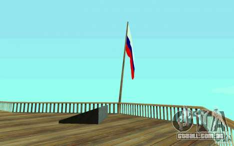 A bandeira da Rússia no Chiliad para GTA San Andreas segunda tela