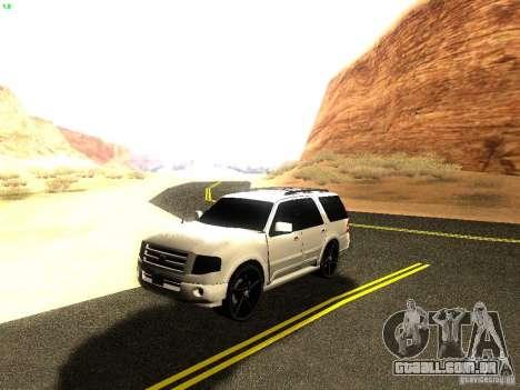 Ford Expedition 2008 para GTA San Andreas vista interior