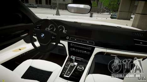 BMW 750Li Sedan ASANTI para GTA 4 vista direita