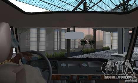 Range Rover County Classic 1990 para GTA San Andreas vista interior