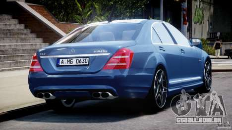 Mercedes-Benz S63 AMG [Final] para GTA 4 vista inferior