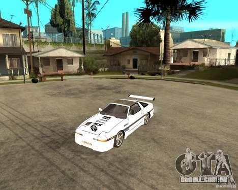 Toyota Supra MK3 Tuning para GTA San Andreas esquerda vista