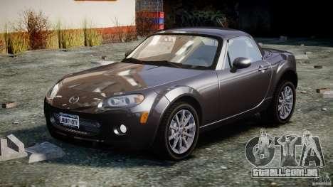 Mazda MX-5 para GTA 4 vista de volta