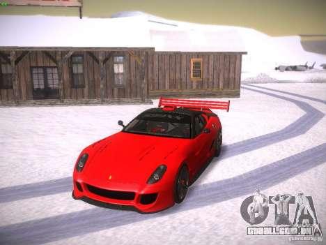 Ferrari 599XX para GTA San Andreas vista superior