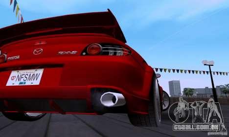 Mazda RX-8 Speed para GTA San Andreas vista interior