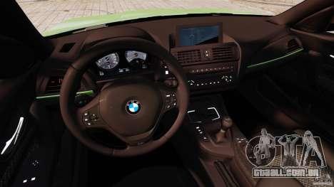 BMW M135i 2013 para GTA 4 vista de volta