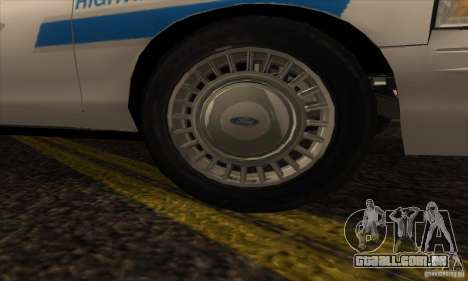 Ford Crown Victoria Arizona Police para GTA San Andreas vista direita