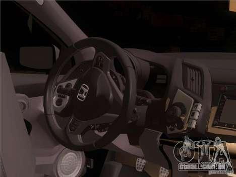 Honda CR-Z Mugen 2011 V2.0 para GTA San Andreas vista superior