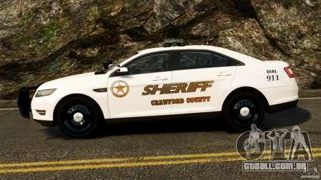 Ford Taurus 2010 CCSO Police [ELS] para GTA 4 esquerda vista