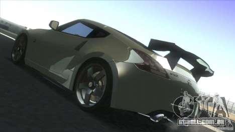 Nissan 370Z Drift 2009 V1.0 para GTA San Andreas vista traseira