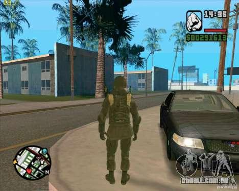 Pele SAS para GTA San Andreas por diante tela