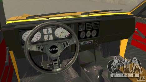 Opel Kadett D GTE Mattig Tuning para GTA San Andreas vista traseira