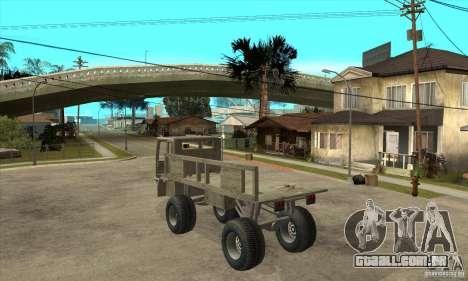 Fast Five Sand King para GTA San Andreas traseira esquerda vista