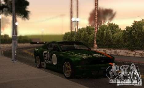 Ford Mustang GT-R para GTA San Andreas vista inferior