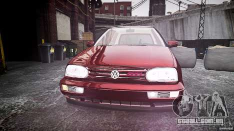 Volkswagen Golf MK3 GTI para GTA 4 vista interior
