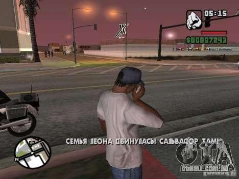 IPhone 4G branco para GTA San Andreas segunda tela