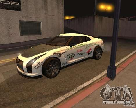 Nissan GT-R Pronto para vista lateral GTA San Andreas