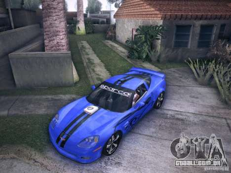 Chevrolet Corvette C6 Z06 Tuning para GTA San Andreas vista superior