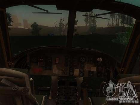 Helicóptero Huey da chamada do dever ops preto para GTA San Andreas esquerda vista